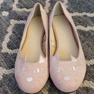 Women's Torrid Slip On Pink Cat Flats Size 11